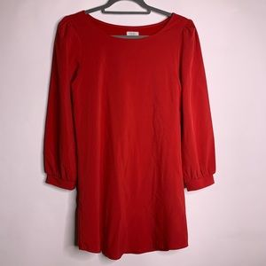 TOBI Red Long Sleeve Shift Party Dress